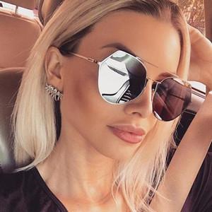 Mode pilote miroir lunettes de soleil femmes marque designer 2017 rétro Lady femme lunettes de soleil pour femmes UV400 classique Vintage lunettes de soleil UV400 Y108