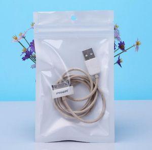 걸림 구멍 가방, 지퍼 잠금 가방 포장 작은 8 * 13cm 화이트 / 클리어 자기 인감 지퍼 플라스틱 소매 팩