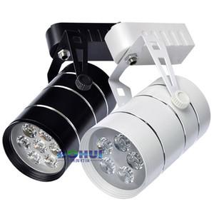 20 pz / lotto 3 w 5 w 7 w 9 w 12 w 15 w 18 w ha condotto la pista di illuminazione AC85-265 V alluminio bianco e nero shell binario luce di soffitto spotlight CE