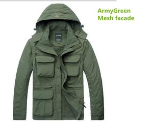 Wholesale- Men's windbreaker Jacket Waterproof Casual coat for autumn spring AFS