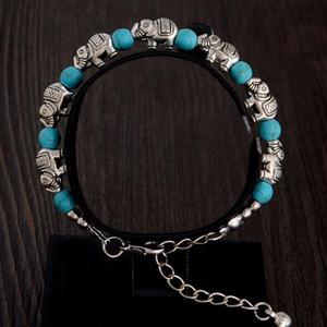 2017 New Bohemia carved turquoise bracelets Handmade beaded The magic of Beaded Strands The anti-fatigue bracelet 20 pcs free shipping