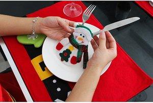 Decoração de natal Talheres Terno Titulares Silveware Porckets Facas Saco de Pessoas Boneco de Neve Jantar Decoração de Casa Decoração 77