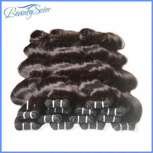 8a al por mayor cuerpo humano brasileño pelo de la onda no-Remy paquetes teje 1kg 20bundles mucho el color negro del cabello humano natural 100% puede cambiar de color