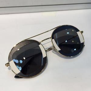 0105 occhiali da sole donne stilista stile rotondo Goggle Estate Colore della struttura superiore misto lenti protezione UV di qualità Acceso con il caso 0105S