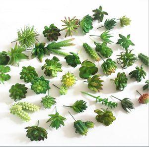 Мода горячая моделирование суккуленты искусственные цветы украшения мини зеленый искусственные суккуленты растения украшения сада