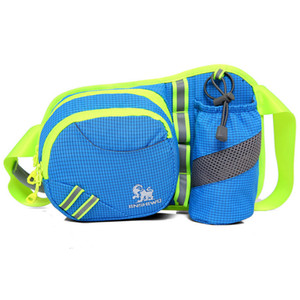 Superior Water Resistant Nylon Sports Waist Pack Hip Bum Bags Outdoor Travel Fanny Packs Bottle Holder Safe Night Running Waist Bags Pouches