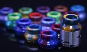 22 mm 24 mm Resina epoxi Puntas de goteo Derlin universales Punta de goteo de orificio ancho para RDA RBA Atomizador Vape Boquilla colorida con paquete de caja DHL