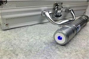 2017 Wholesale Handheld Portable 450nm Blue Laser Pointer 5000m 2x16340