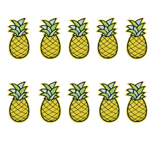 10 pcs abacaxi patches emblemas para roupas de ferro bordado patch applique de ferro costurar sobre remendos acessórios de costura para roupas