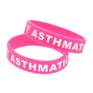 1PC Asthmatic in Kindergröße Silikon-Armband Tragen Sie diese Nachricht als Erinnerung im täglichen Leben