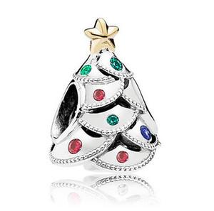 20 stücke zink-legierung Europäischen perlen weihnachtsbaum design Großes Loch Lose Perlen Für Pandora DIY Schmuck Armband