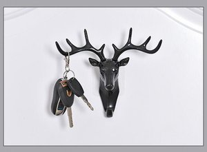 Antlers, decorazione murale americana, ganci, testa di cervo creativa, personalizzata, gancio a muro, chiave senza tracolla, gancio a muro, appendiabiti
