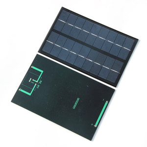 9V 350MA 3W 미니 에폭시 태양 전지 모듈 DIY 태양 전지 패널 전원 6V 배터리 충전기 125 * 195 * 2MM 무료 배송