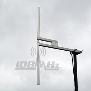 Antenne bipolaire pour radiodiffusion de radio FM, câble L16, max. 1200W / 20m, 87,5-108 MHz