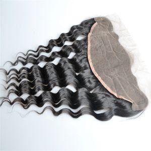 Brésil déchaîne 13x4 dentelle Frontal Closures gratuite Partie de dentelle Frontal 100% non transformés malaisienne Vierge humaine Fermeture cheveux