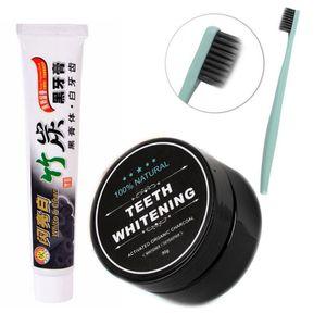 3 قطعة / المجموعة الخيزران معجون الأسنان الفحم لينة جدا الاستخدام اليومي الأسنان تبييض الخيزران الفحم مسحوق نظافة الفم