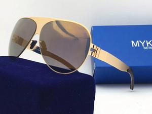 Yeni Mykita ayna mercek ultra hafif çerçeve Bellek Alaşım boy güneş gözlüğü ile vidalar Franz Pilot çerçeve olmadan ultralight çerçeveyi güneş gözlüğü