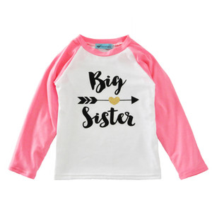 INS Newborn Baby Clothes Boys Girls Cotton Casual Long Sleeve T-shirt Arrow Letters Infant Kids T-shirt Baby Tops Children Clothing 039