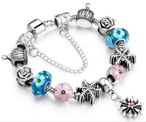 fascini del braccialetto delle signore di modo Catena di gioielli delle perle di vetro di Murano, braccialetti chain della catena dei monili all'ingrosso con buona qualità