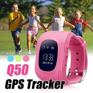 Q50 smart watch gps tracker para crianças chamada sos anti-lost com slot para cartão sim localizador de localização para crianças para ios e android