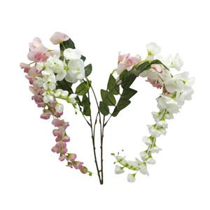 Wholesale- Charme Hausgarten-Partei-Dekor Künstlicher Holland Wisteria Blume Zimmerpflanze Hochzeitsdekoration