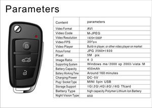 كاميرا HD 1080P البسيطة مفتاح سيارة كاميرا S820 سلسلة المفاتيح MINI مع رؤية ليلية IR كشف الحركة البسيطة DV DVR مسجل الصوت الفيديو