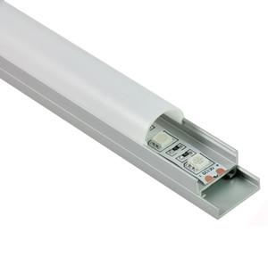 50 X 1M Sätze / Los runde Form Aluminiumprofil LED und Arc LED-Kanal mit Platte für Decken- oder Wandleuchten