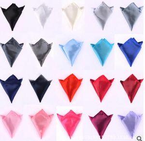 뜨거운 판매 넥타이 남성 정장 포켓 수건 단색 손수건 작은 광장 웨딩 연회 넥타이 무료 배송