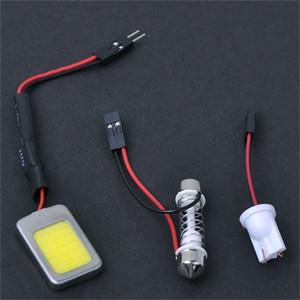 T10 ile Beyaz 18 Cips Sabit Voltaj COB LED Festoon Dome / Kapı / Kutu Işık Paneli İç Ampul.