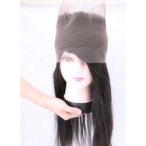 360 dentelle frontale fermeture complète de la dentelle vierge brésilienne cheveux humains Natural Hairline Straight Péruvien Indien Malaysian extensions de cheveux