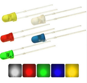 MIX 확산 형 스루 홀 레드 / 그린 / 블루 / 옐로우 3mm LED 다이오드