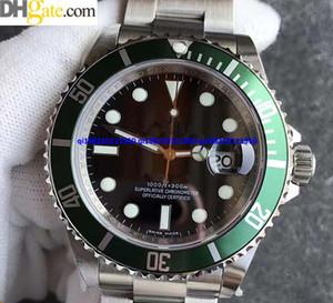 Luxo de Alta Qualidade Assista top Fábrica v7 Swiss ETA3135 Movimento preto Dial 40mm 116610 Sapphire Vidro Automático Mens Watch Watche