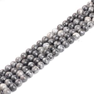 Black Spectrolite cuentas de piedra natural para la fabricación de joyas Labradorite strand beads Stone pulsera de bricolaje 4 mm 6 mm 8 mm 10 mm 12 mm 15 ''