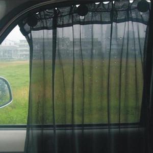 2 pezzi / set tipo ventosa auto protezione parasole copertura parasole 52 * 80 cm ultra termicamente isolata maglia auto anteriore