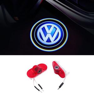 LED Araba Kapı Nezaket Lazer Logo Projektör Volkswagen VW Caddy Touran Golf 4 MK4 Beetle Bora3 Için Işıkları