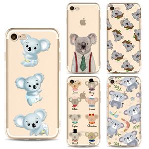 Coque Coque Arrière Coque Arrière TPU Cute Koala Bear en TPU pour iphone X pour iPhone 6S 7 Plus 5S bord Samsung Galaxy S8 S7 Plus note 8