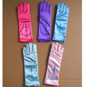 New Arrival Children Print Party Gloves Cosplay Princess Gloves Costume Dresses Dance Stage Gloves XMAS Gifts L:24cm HH-G01