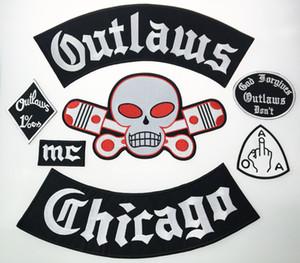 Schlussverkauf! Outlaw Chicago verzeiht gesticktes Eisen auf Patches Big Size für Full Back Jacket Rider Biker Patch Versandkostenfrei