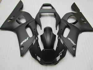 Yamaha YZF R6 için motosiklet Fairing kiti 98 99 00 01 02 mat siyah kaportalar set YZFR6 1998-2002 OT07