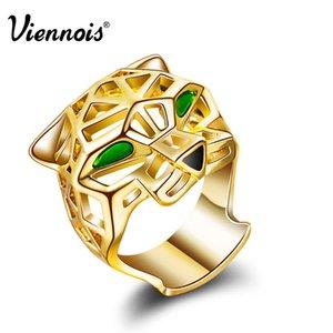 Viennois Brand New Gold Color Leopard Anelli per le donne Vintage Hollow Finger Ring Size 7 8 gioielli di moda femminile partito q170684