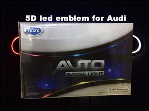 auto 5D ha condotto l'emblema auto dell'automobile LED distintivo simboli guidati logo posteriore luce blu rosso bianco per Au * d dimensioni 180x58mm