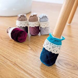 4 pezzi / set creativo carino panno rotondo sedia gamba protettore divano tavolo calzini calzini tappetino antiscivolo mobili coprisedili