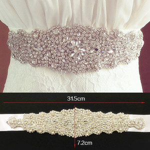 Bright Bridal Bind Bridal Wedding Strass Faux Gorgeous Princess Sashes Bridesmaid Dress Sash Accessori da sposa Multi Color Ribbon BW61