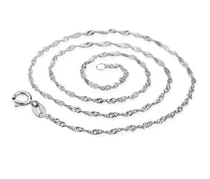 Wholesale Fashion Korean Style Platinum Plated Women Chains 50PCS Lot Link Chain 45CM(18 Inch)