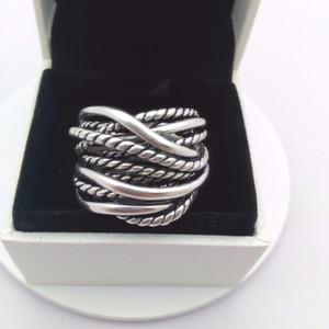Joyería fina de 925 anillos de plata con el anillo de boda Mujer del partido Mujeres Borrar CZ Anillos de moda anillo del arco Fit Pandora