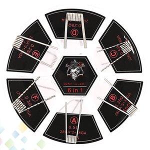 악마 킬러 불꽃 코일 6 in 1 키트 코일 미리 만들어진 코일 316L 재질 6 가지 모델 와이어 피트 원자화 기 DHL 무료