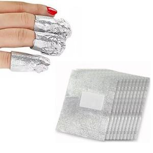 Gros- BLEU ZOO 100x Foil Nail Art Nail Soak Off Gel Polish acrylique Wraps Remover Clean Aluminium 2016 Hot
