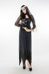 New Halloween Ghost Bride Sexy Vampire Witch Zombie Dark Princess Dress Costume da donna per adulti Cosplay Costume a tema