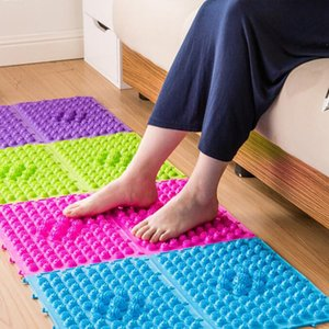 1PC 29 x 39 cm Foot Massage Pad Toe Pressure Plate Explosion Pebbles Shiatsu Blanket Yoga Mat fitness household massage Random 5
