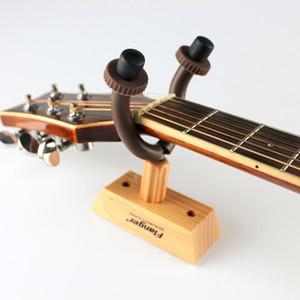 Alta calidad Solid Wall Mount Guitar Fangger FH-02 FH-02 Base de madera sólida Hook Guitar String Instrument Guitar Holder Keeper envío gratis